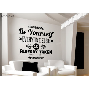 Vinilo be yourself