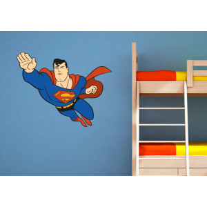 Vinilo Superman volando