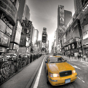 Fotomural Taxi en Times Square