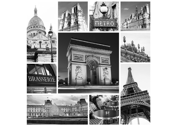 Fotomural collage Paris